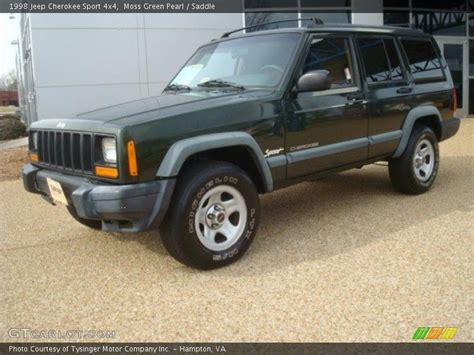 jeep cherokee sport green 1998 jeep cherokee sport 4x4 in moss green pearl photo no