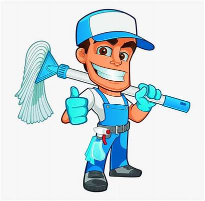 Window Clipart Cleaning Clip Cartoon Worker Cliparts