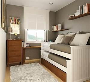 Aménagement Petite Chambre : petite chambre coucher comment l am nager ~ Melissatoandfro.com Idées de Décoration