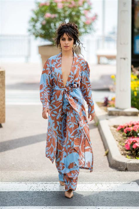 Camila Cabello Looks Stunning Floral Print Jumpsuit