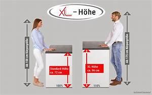 Arbeitsplatte Küche Höhe : xl h he mehr stauraum und komfort in der k che k chen behrendt ~ Watch28wear.com Haus und Dekorationen