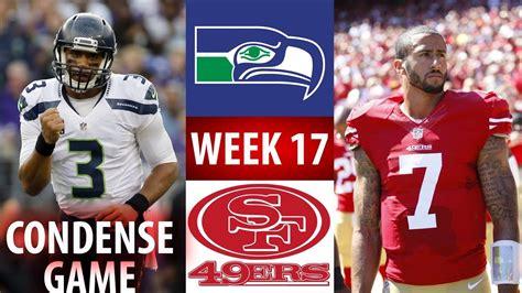 sf ers  sea seahawks week  condense game