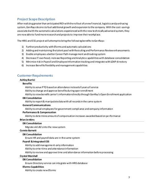 scope document genrays project scope document