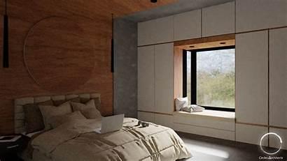 Bedroom Window Bench 3d Low Poly Interior