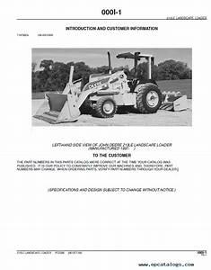 John Deere 210le Landscape Loader Pdf Pc2598 Parts Catalog