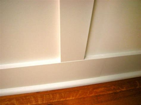 install recessed panel wainscoting  tos diy