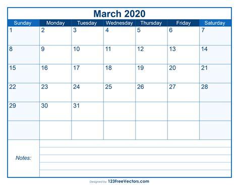 blank printable march calendar
