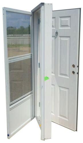 doors for mobile homes vinyl steel combination door for mobile home w knocker