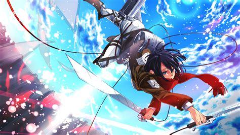 mikasa attack  titan   wallpaper