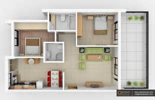 3D Small House Floor Plans