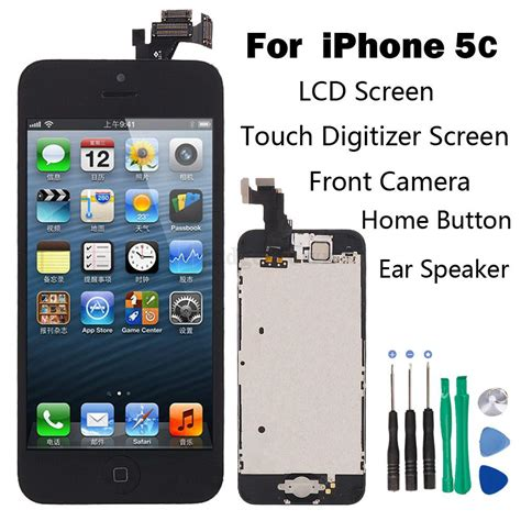 how to fix iphone 5c black screen set lcd touch screen digitizer assembly replacement
