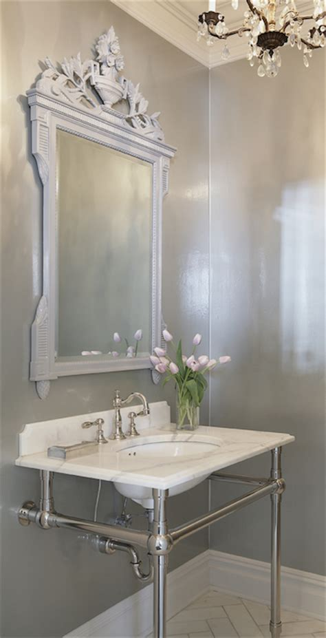 powder room mirrors transitional bathroom leo