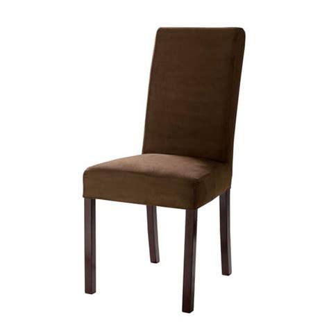 housse de chaise en coton chocolat margaux maisons du monde