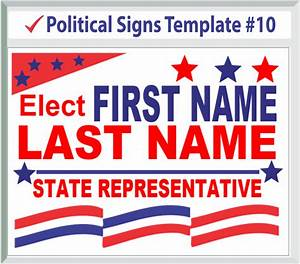 political signs With yard sign design template