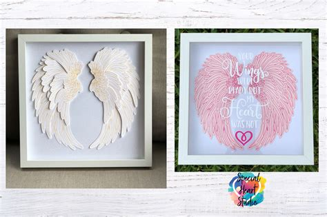 The wings have eight layers that you can change the colors to fit your project! LAYERED ANGEL WINGS CUT FILE - SPECIAL HEART STUDIO