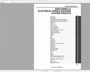Toyota Corolla 2006 Electrical Wiring Diagram