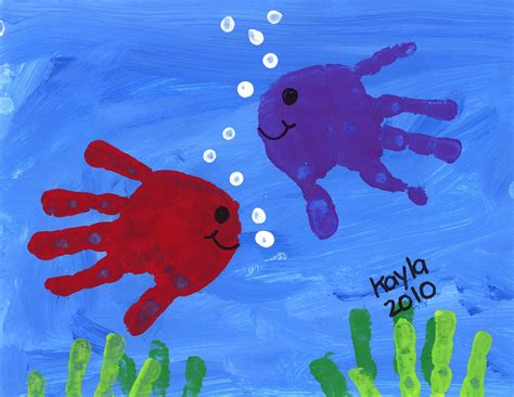 hand print fish daycare crafts toddler crafts fish