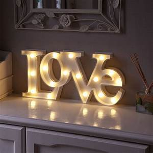 warm white led battery quotlovequot marquee light up circus With letter light decor