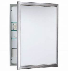 framed electric medicine cabinet brushed nickel With kitchen cabinets lowes with fair trade wall art