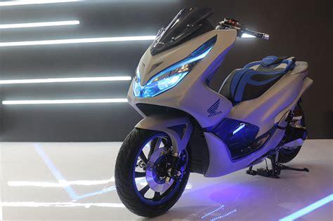 Pcx 2018 Modif Spion by Honda Pcx 2018 Dimodif Bergaya Futuristik Modifikasi