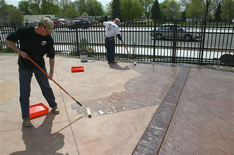 drying phases of decorative concrete sealers concrete decor