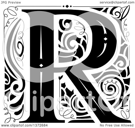 clipart   black  white vintage letter  monogram royalty  vector illustration  bnp