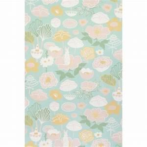 Papier Peint Fleuri Vintage : papier peint motif vintage fleuri au style 70 s ~ Melissatoandfro.com Idées de Décoration