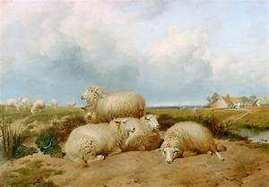 Order painting 'Sheep herd in a summer landscape in ...