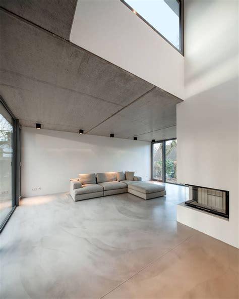 Bauhaus In Blankenese Sichtbeton Kann Auch Im Wohnzimmer
