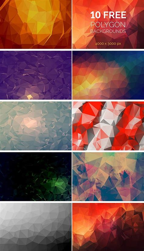 wonderful  polygon background packs  website