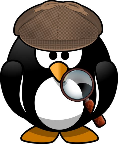Detective Clip Clipart Sleuth Penguin