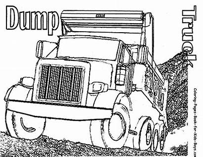 Coloring Truck Pages Semi Dump Trucks Printable