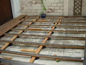 pose carrelage sur dalle beton exterieur autres vues With pose dalle bois terrasse