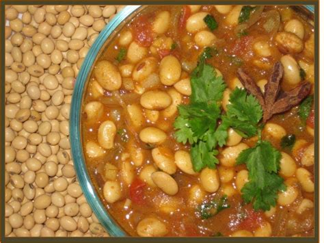soya bean curry vegetarian indian food