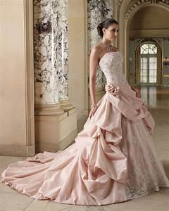 Meaning of the colored wedding dresses weddingelation for Pink wedding dress meaning