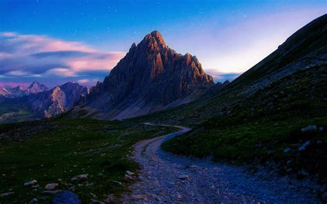 mountains path stones nature wallpapers mountains path