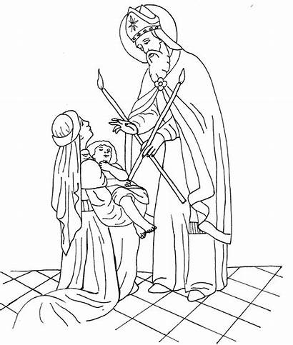St Blaise Coloring Pages Catholic Michael Sheets