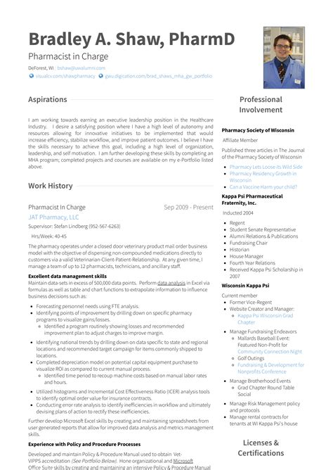 How To Write A Pharmacist Resume by Pharmacist Resume Sles Templates Visualcv