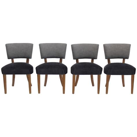mid century dining chairs newly upholstered at 1stdibs