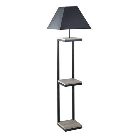 lampadaire en metal  coton noir   cm kenneth maisons du monde