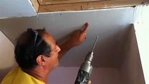 how to repair drywall ceiling water damaged drywall 1 doovi With how to replace drywall in bathroom