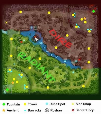 Map Dota2 Minimap Version Dota Camps Labelled