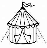 Tent Coloring Circus Birthday Crafts Drawings Clown Zirkuszelt Craft Ausdrucken Malvorlagen Excel Zirkus Designlooter Preschool Box sketch template