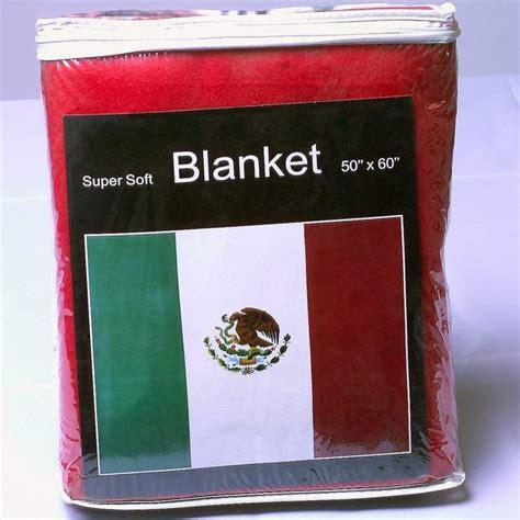 Mexican Flag Fleece Blanket 5 ft x 4.2 ft. Bandera de ...