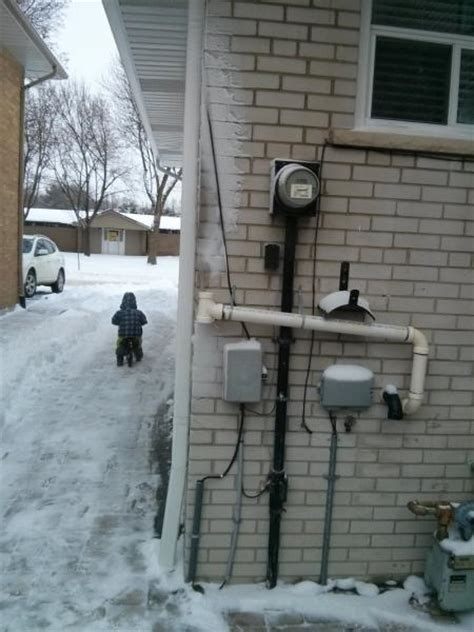 high efficiency furnace vent installed properly