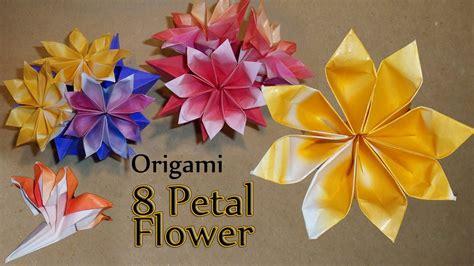origami  petal flower youtube