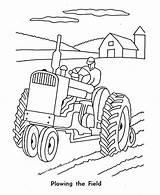 Tractor Coloring Farm Plowing Drawing Plow Pages Deere John Number Print Ausmalbilder Printable Traktor Cartoon Drawings Sketch Plough Kinder Malvorlagen sketch template