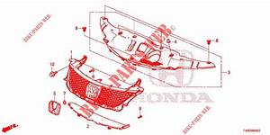 Front Grille  Molding For Honda Cars Civic 1 8 Es 5 Doors 6
