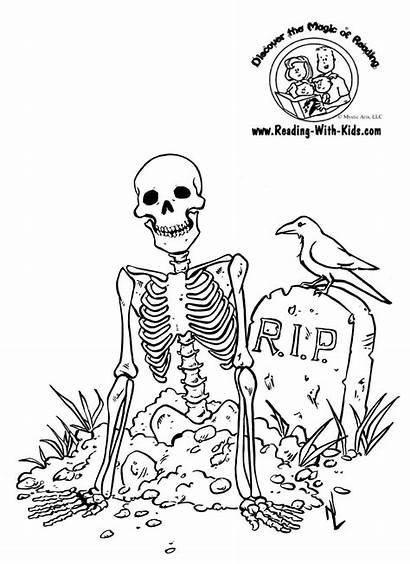 Skelett Ausmalbilder Kostenlos