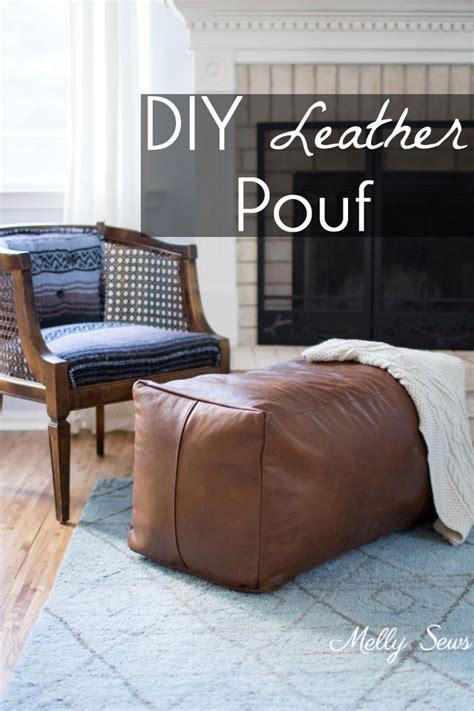 Diy Pouf Ottoman by Leather Pouf Ottoman Melly Sews